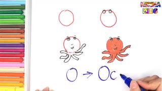 How To Draw and Color a Octopus Easy Steps By Step ✅How To Teach Baby To Speak English