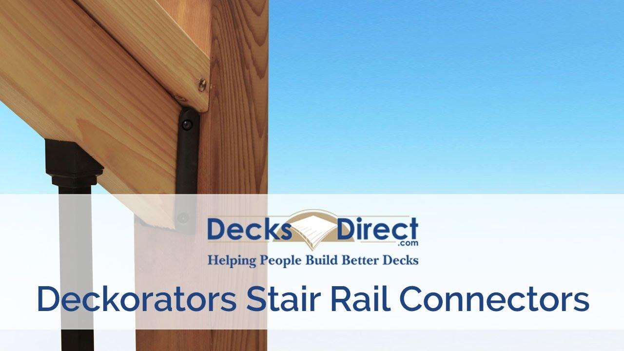 Stair Rail Connector by Deckorators