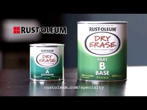 How to Apply Rust-Oleum Dry Erase Paint