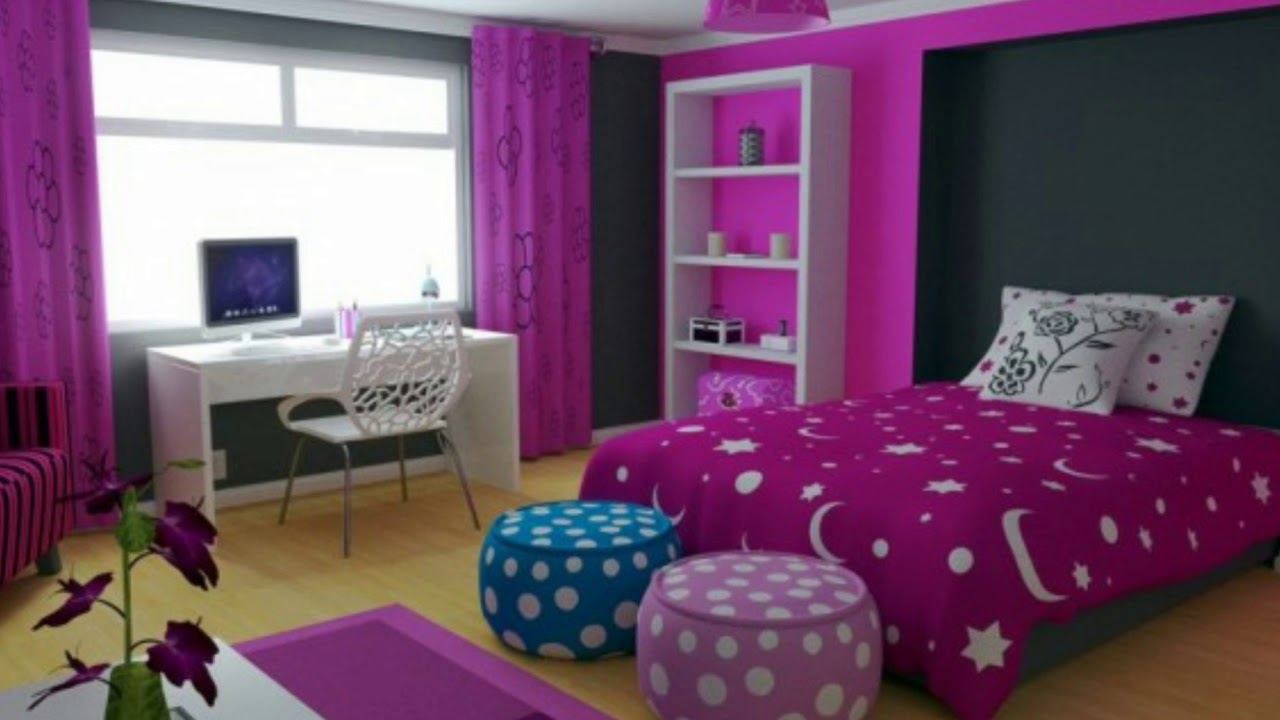 Purple And Pink Bedroom Decorating Ideas Youtube
