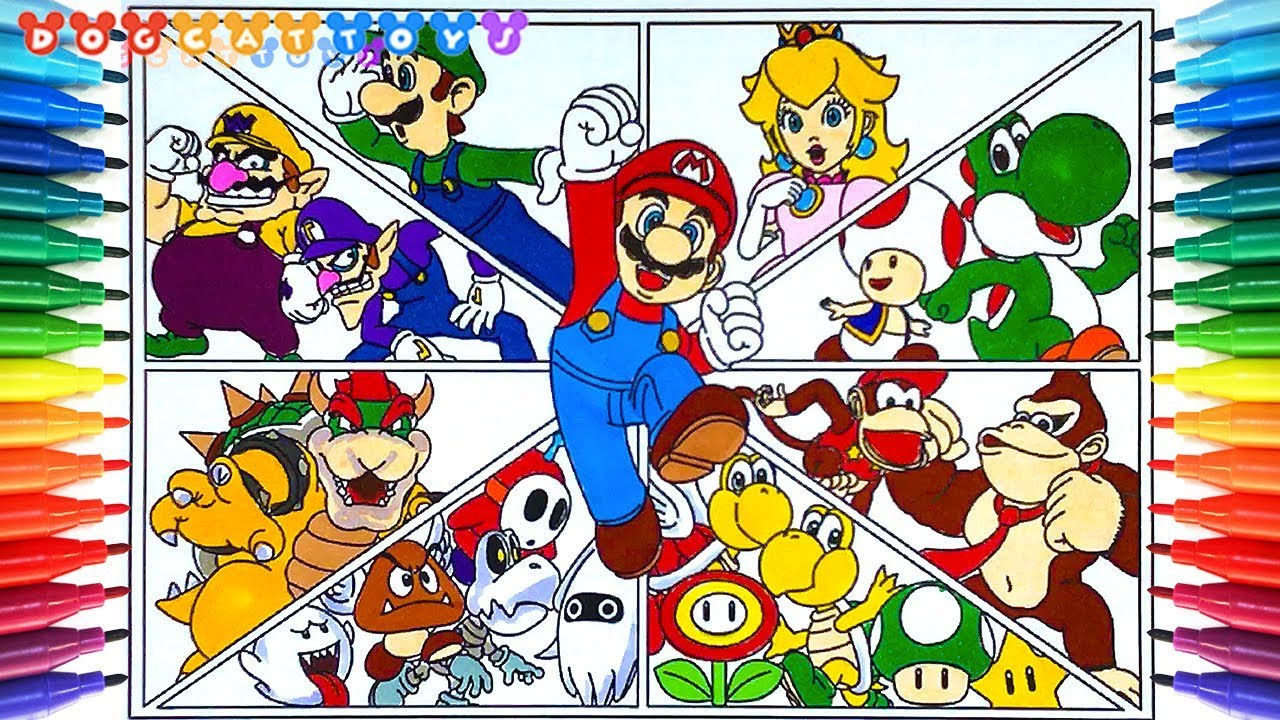 Super mario maker coloring pages