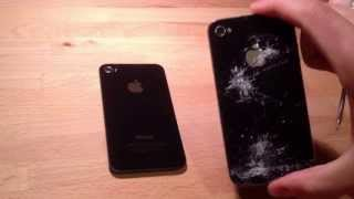 Ремонт iPhone 4 : Как самому заменить заднюю крышку айфона 4 / Замена задней крышки iPhone 4(Замена задней крышки айфона 4 в домашних услвиях, как самому заменить стекло на iphone 4. Подобные видео будут..., 2013-05-21T22:33:49.000Z)
