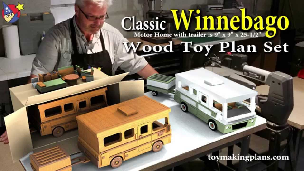 Wood Toy Plans - Classic Winnebago - YouTube
