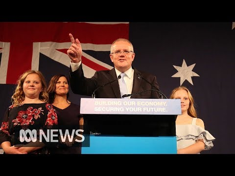 'I have always believed in miracles': Scott Morrison declares election victory | ABC News