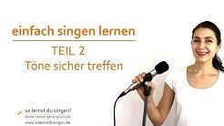 einfach singen lernen Teil 2: Töne sicher treffen