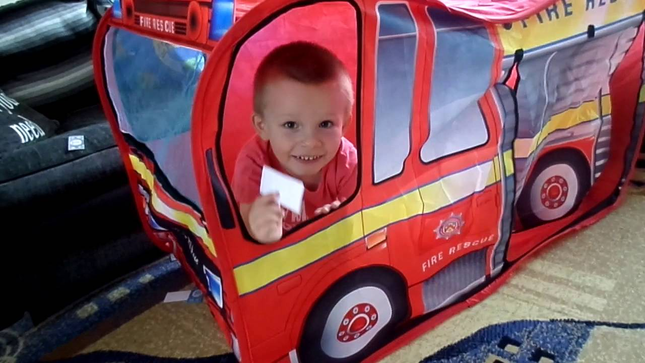 Chad Valley Fire Engine Play Tent with Hat - Argos.  sc 1 st  YouTube & Chad Valley Fire Engine Play Tent with Hat - Argos. - YouTube