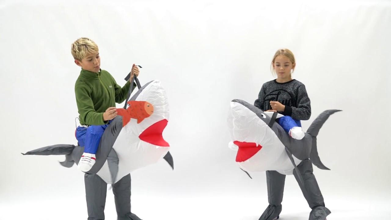 Bodysocks Inflatable Kids Shark Costume  sc 1 st  YouTube & Bodysocks Inflatable Kids Shark Costume - YouTube
