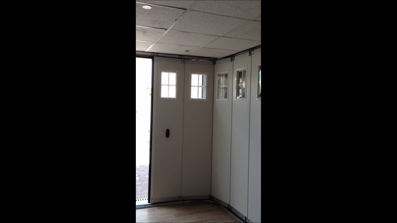Porte garage sectionnelle coulissante youtube - Portes garage coulissantes ...