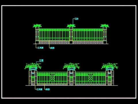 【Autocad Block】Wrought iron railing fence design