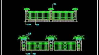 【autocad Block】wrought Iron Railing Fence Design.