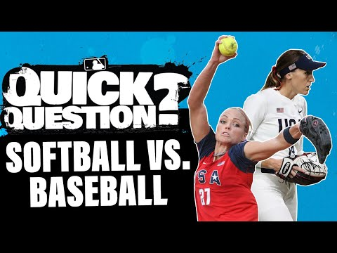 Why are softball and baseball different sports? (Olympics Preview!)   Quick Question