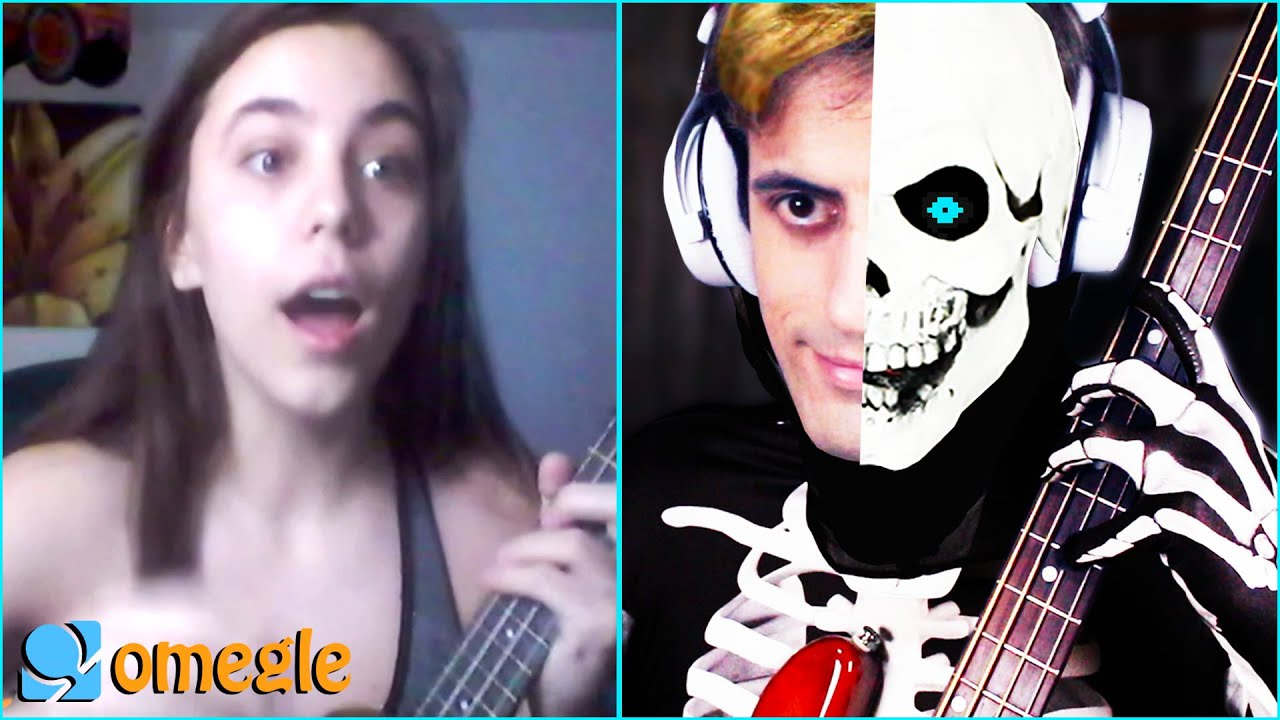Playing Bass on Omegle but it's SPOOKY TIME