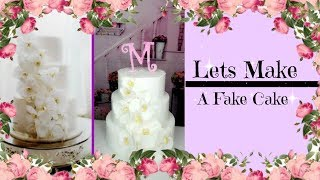 LETS MAKE A FAKE CAKE | BALLING ON A BUDGET