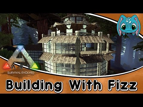 ARK:Survival Evolved Building w/ Fizz :: Tree House Mansion Build (No Mods)!!!