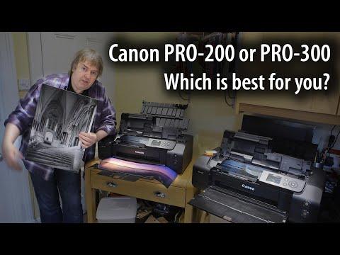 "Choosing between the Canon PRO-200 or PRO-300 13"" desktop photo printers"