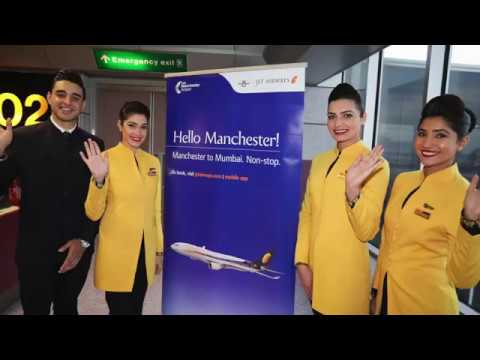 Jet Airways Manchester to Mumbai Inaugural 5th November 2018