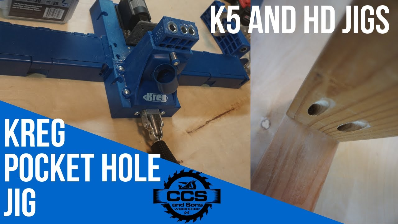 how to setup and use the kreg k5 and hd pocket-hole jigs