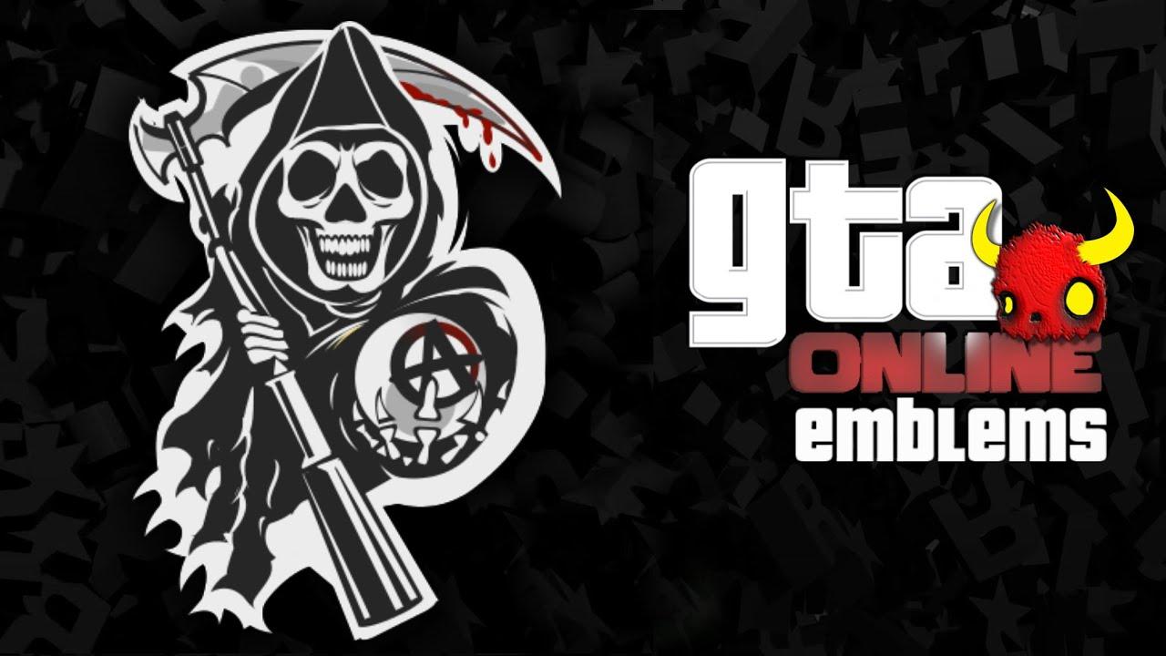 GTA V - Sons of Anarchy - Custom Crew Emblem( Grand Theft Auto 5 ) Screetch