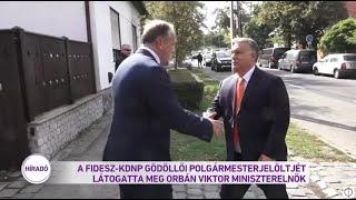 A Fidesz-KDNP gödöllői polgármesterjelöltjét látogatta meg Orbán Viktor miniszterelnök
