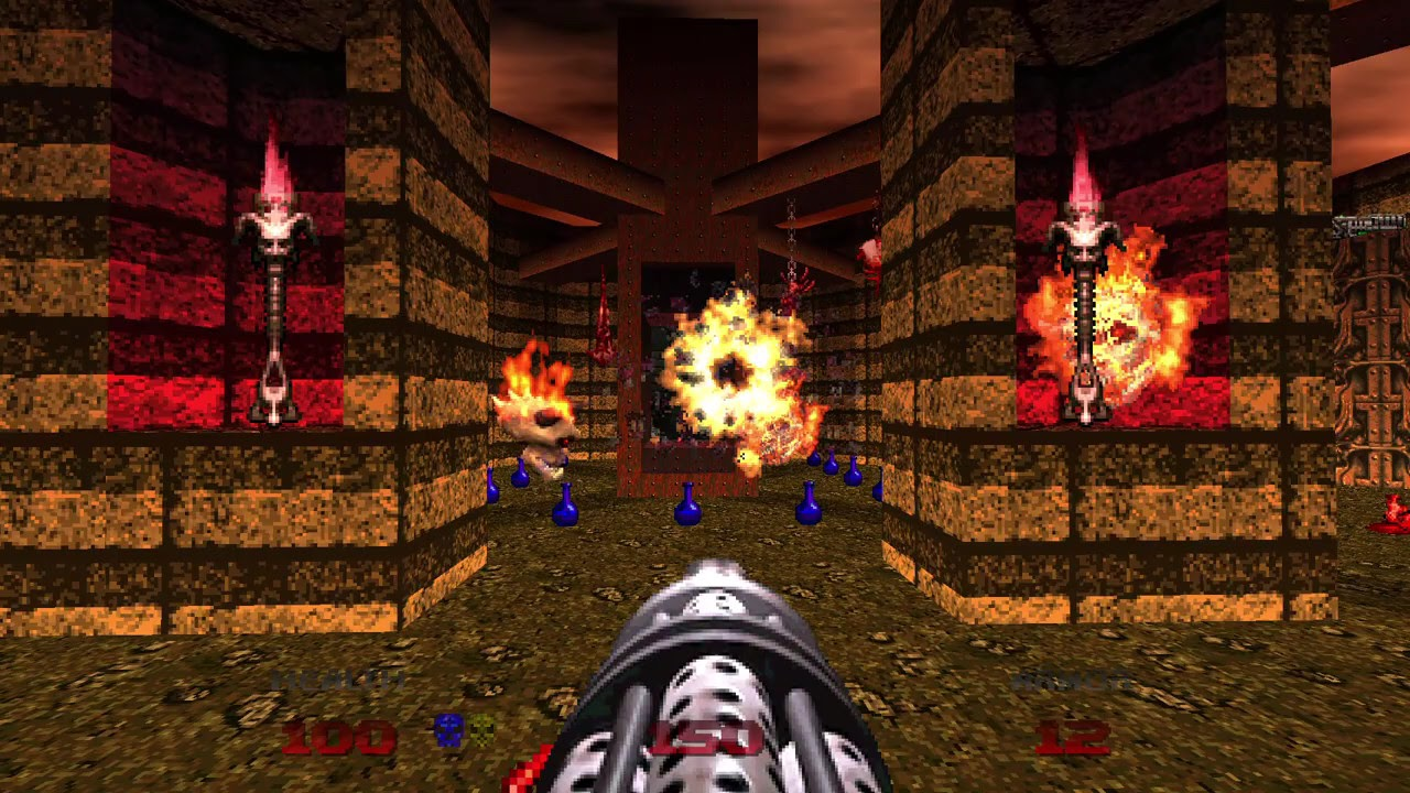 Doom 64 Lost Levels 2 (map 35), Evil Sacrifice: Can't exit - YouTube