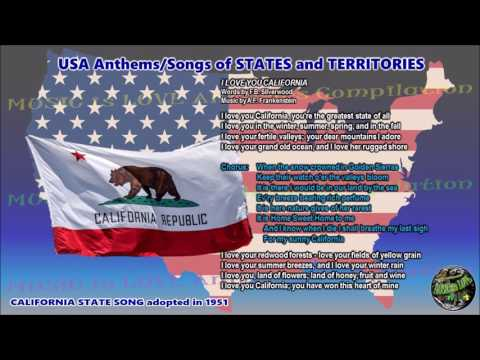 California State Song I LOVE YOU CALIFORNIA with music, vocal and lyrics