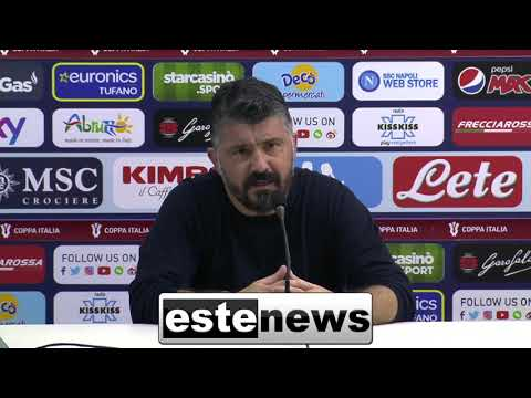 """Napoli-Atalanta 0-0, Gattuso: """"Non devo piacere a tutti. De Laurentiis?  La messa l'ho già cantata"""""""