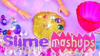 Mash Ups:  ALL SLIME CRAFTS - Slime Waterfall | Slime Kitchen | Infinity Slime & more