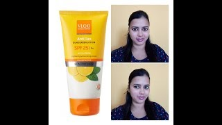 VLCC Sun screen lotion spf 25 pa+ with lemon extract product review
