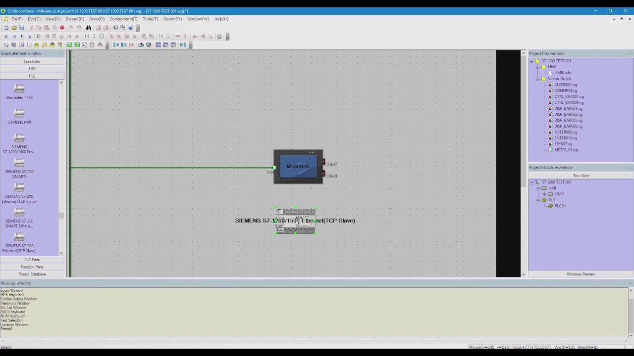 Siemens S7 1200 & Kinco HMI via TCP SLAVE