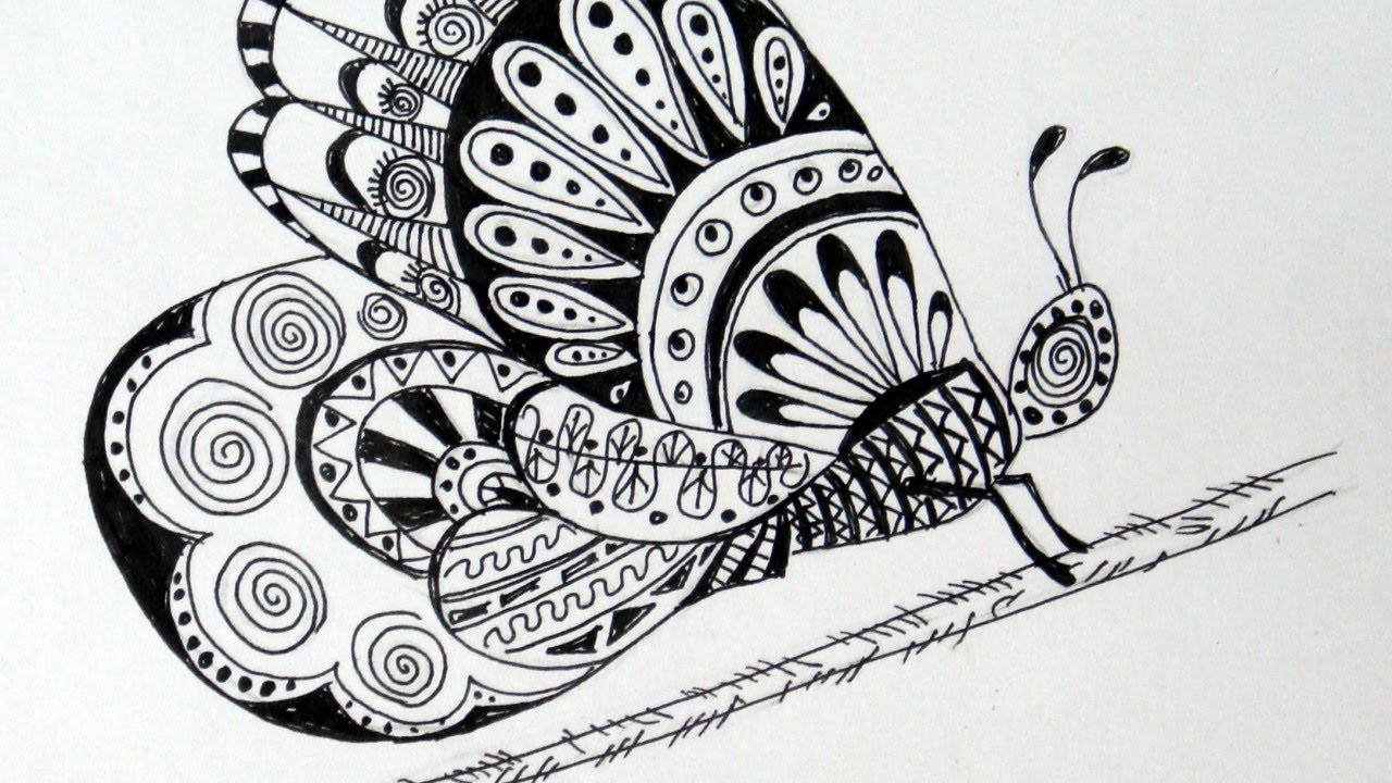 Uncategorized How To Draw A Beautiful Butterfly draw a beautiful butterfly diy crafts guidecentral youtube guidecentral