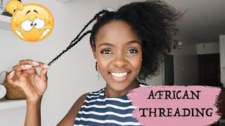 STRETCHING NATURAL HAIR WITHOUT HEAT | AFRICAN THREADING
