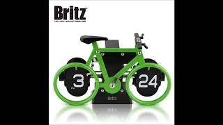 브리츠 BZ-CL087-G 미니 플립 건전지 탁상시계
