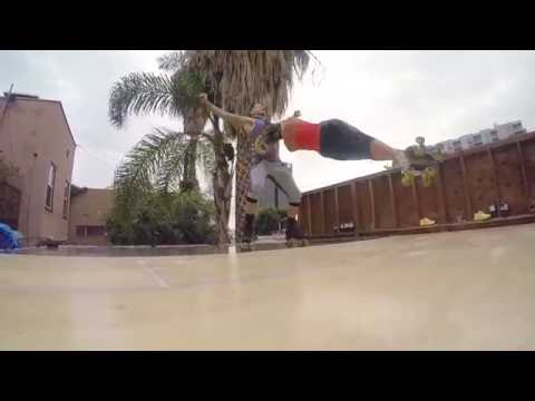 Roller Skating Rooftop Rehearsal- Trey Knight and Candice Heiden- Hollywood,