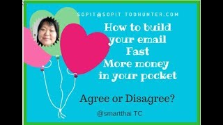 How to build your email list fast meaning more money in your pocket