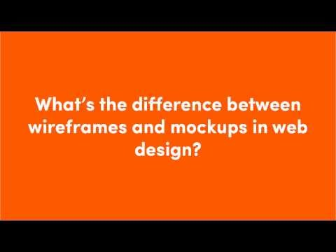 What's the difference between wireframes...