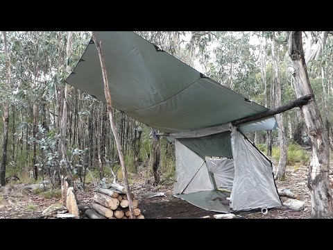 Portable Super Shelter, Bow drill and Upside down fire!