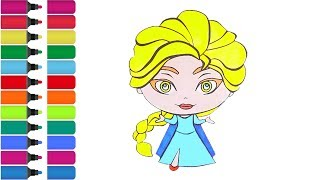 Frozen Elsa - coloring Page! Fun Coloring Activity for Kids Toddlers