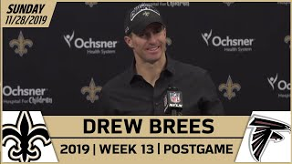 Drew Brees Postgame Reactions After Win vs Falcons in Week 13 | New Orleans Saints Football