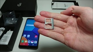 LG G6 How to Insert SIM Card or Micro SD Card