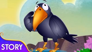 The Thirsty Crow Story | Moral Stories and Fairytales For Children | TinyDreams Kids
