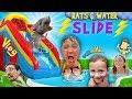 RATS & Thunderstorm! INFLATABLE SLIDE Fun! FUNnel Vision Summer Vlog