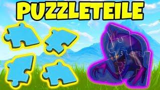 Fortnite Suche alle Puzzleteile unter Brucken und in Hohlen! Herausforderung Woche 8