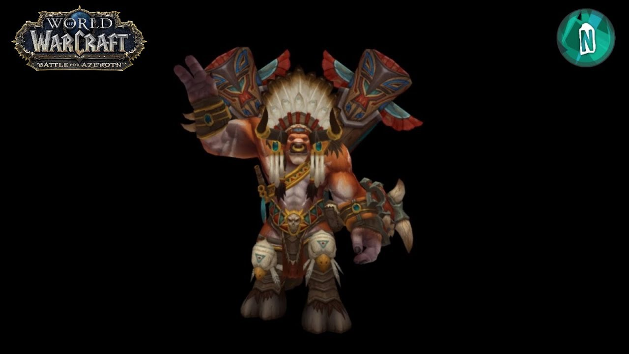 baine bloodhoof model to battle of azeroth in patch 7 3 5 youtube