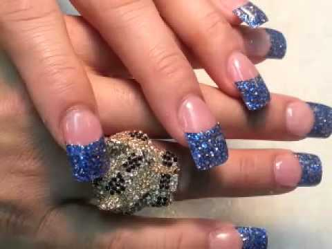 How beautiful dallas cowboy blue glitter nails tip youtube how beautiful dallas cowboy blue glitter nails tip prinsesfo Images