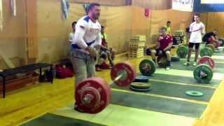 Дмитрий Берестов рывок 190 кг x2