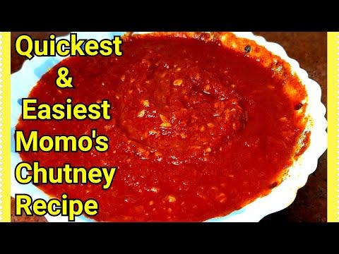 Momos Chutney Recipe In Hindi | Instant Momos Chutney In 5 Minutes | Cook With Monika