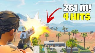 I DEAGLE SNIPE from across the map! (Luckiest & Longest Hand Cannon Shot Ever in Fortnite)