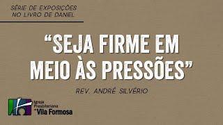 """CULTO VESPERTINO 10 10 2021 - """"SEJA FIRME EM MEIO AS PRESSÕES"""""""