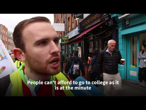 Students from across the country march through Dublin