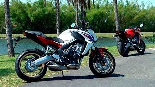 vrum moto conhea os novos modelo da honda a naked cb 650f e a cbr 650f lanamento